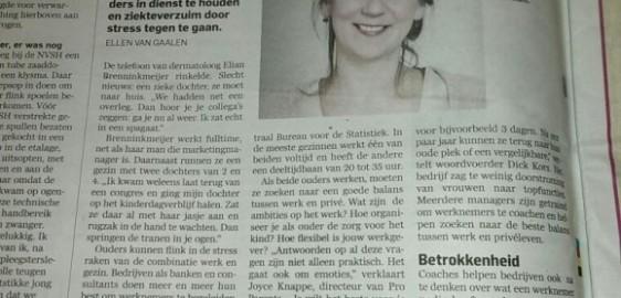 Bedrijfscoach helpt met carrière en gezin – Algemeen Dagblad