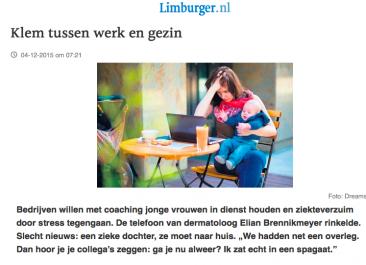 Klem tussen werk en gezin – De Limburger